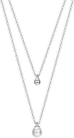 Esprit Warstwowa srebrny naszyjnik z perłami ESPRIT-JW52906 srebro 925/1000