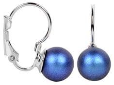 Troli Náušnice s klapkou Pearl Iridescent Dark Blue