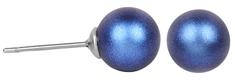 Troli Náušnice Pearl Iridescent Dark Blue