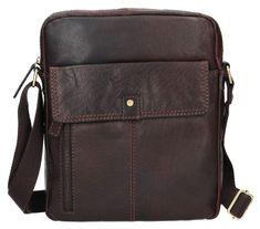 Lagen Kožená hnědá taška přes rameno LN-22021 Brown