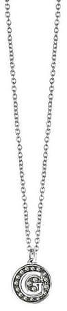Guess Slušivý náhrdelník s přívěskem zdobeným krystaly UBN51481