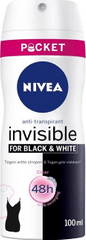 Nivea Antiperspirant v spreji Invisible For Black & White Clear mini (Antiperspirant) 100 ml