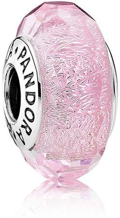 Pandora Romantický růžový korálek 791650 stříbro 925/1000