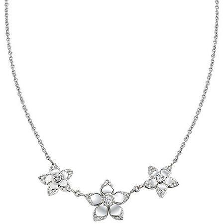 Morellato Oceľový náhrdelník s kvietkami SAJR01
