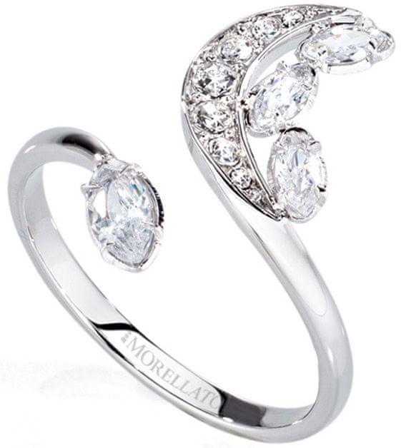 Morellato Ocelový prsten s půlměsícem Luna SAIZ14 (Obvod 54 mm)