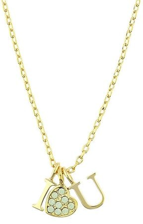 Guess Pozlacený náhrdelník I♥U UBN61090