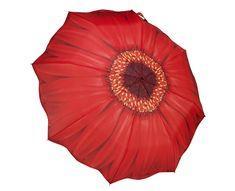 Blooming Brollies Dámský skládací plně automatický deštník Galleria Red Daisy Folding GFFRDN