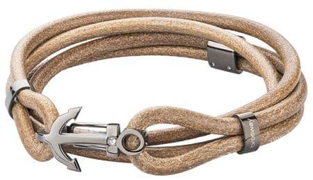 Brosway Męska beżowa bransoletka ze skóry Marine BRN19 (długość 43 cm)