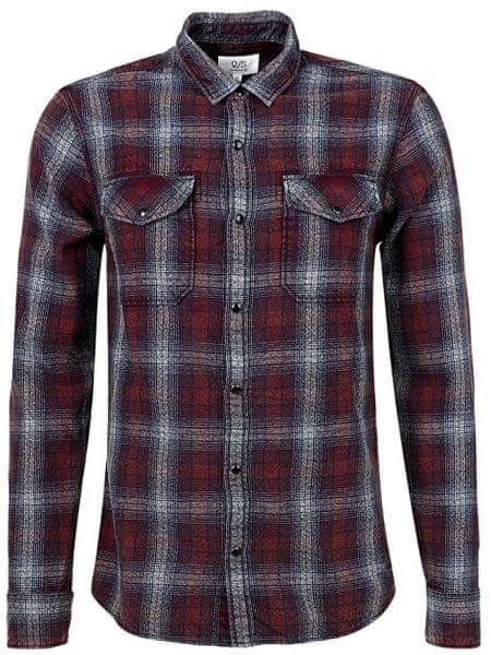 Q S designed by Pánská bavlněná kostkovaná košile extra slim fit (Velikost  M) 5142827570
