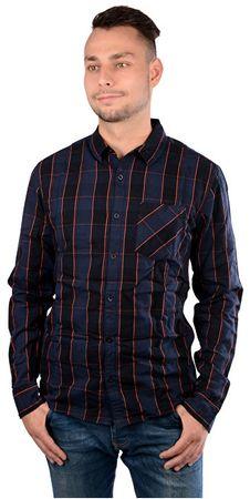 Q S designed by Pánská modrá kostkovaná košile extra slim fit ... 018637608d