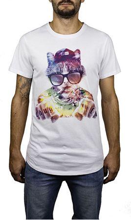 Hydroponic Pánské tričko Thug Cat SS White (Velikost L)