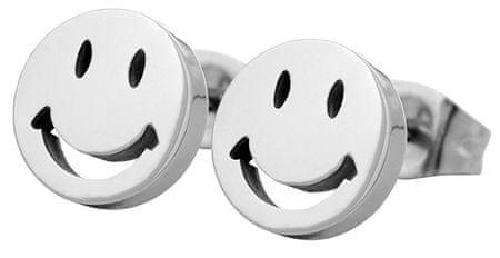 Troli kolczyki ze stali Smiley KE-002