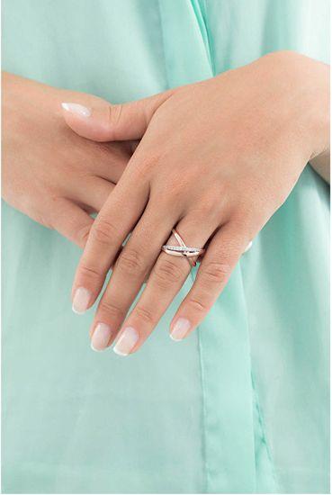 Brosway Otwarty pierścionek z cyrkoniami Ribbon BBN31