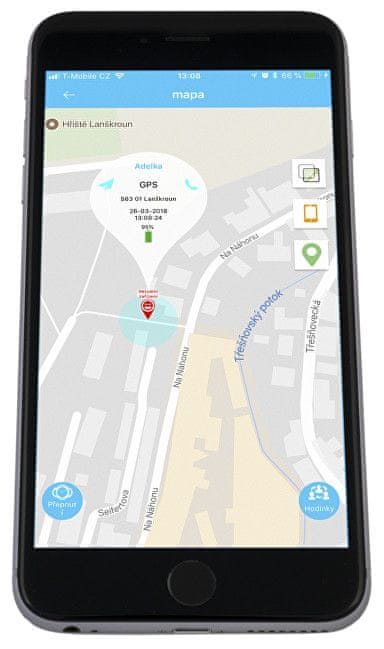 ... 6 - Helmer Chytré dotykové vodotěsné hodinky s GPS lokátorem LK 704  modré 28a252debb