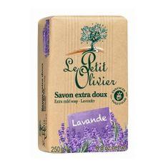Le Petit Olivier Extra fine lawendowy naturalne mydło (dodatkowo Łagodne mydło) 250 g