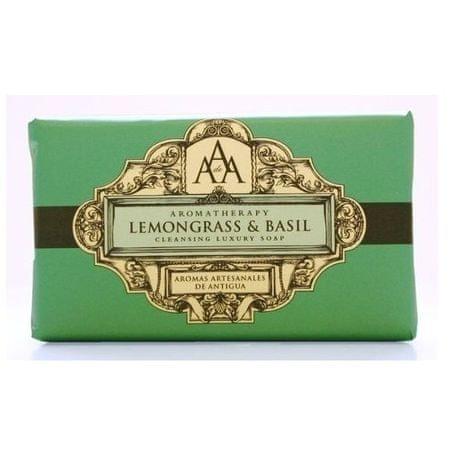 Somerset Toiletry Luxusní čisticí mýdlo Citrónová tráva a bazalka (Lemongrass & Basil Cleansing Luxury Soap) 200 g