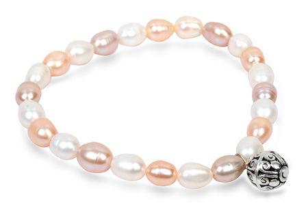 JwL Luxury Pearls Jemný náramok z pravých perál s kovovou ozdobou JL0294