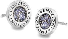Hot Diamonds Sříbrné náušnice Emozioni Scintilla Lavender Calmess EE005 stříbro 925/1000