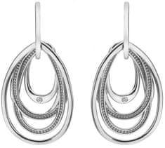 Hot Diamonds Stříbrné náušnice s diamanty Chandelier Vintage Drop DE496 stříbro 925/1000