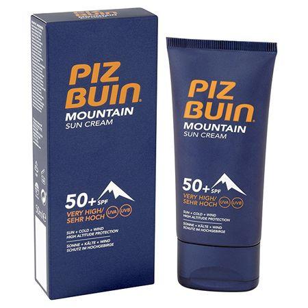 PizBuin Maximális védelmet biztosító napvédő krém SPF 50+ (Mountain Sun Cream) 50 ml