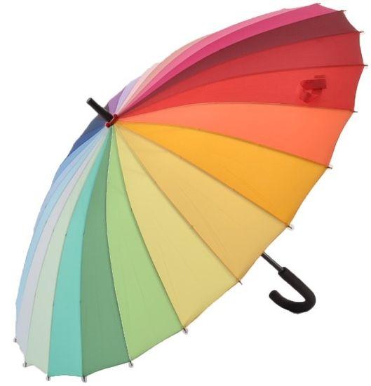 Blooming Brollies Ženska palica dežnik Every day Rainbow EDSRAINR