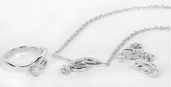 Silver Cat Srebrna ogrlica z cirkoni SC237 srebro 925/1000