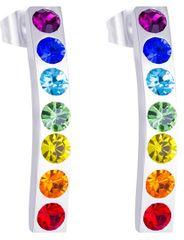 Preciosa Ocelové náušnice s barevnými krystaly Keren 7297 70