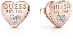 Guess Srdíčkové náušnice s krystaly UBE82083