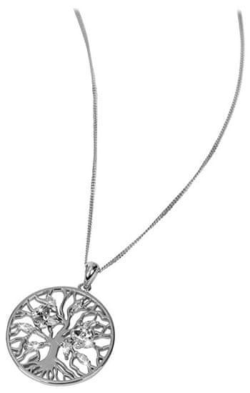 Preciosa Stříbrný náhrdelník s krystaly Tree of Life 6072 46 (řetízek, přívěsek) stříbro 925/1000