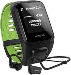TomTom Runner 3 Cardio+Music+HP BLK/GRN (L)