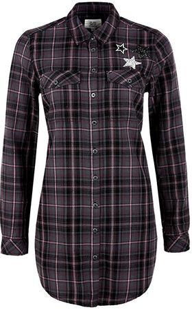 Q/S designed by Dámská košile 41.711.11.8291.98N0 Black/Pink (Velikost 40)