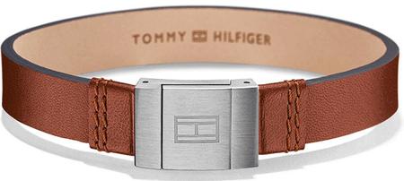 Tommy Hilfiger Štýlový náramok z hnedej kože TH2700949