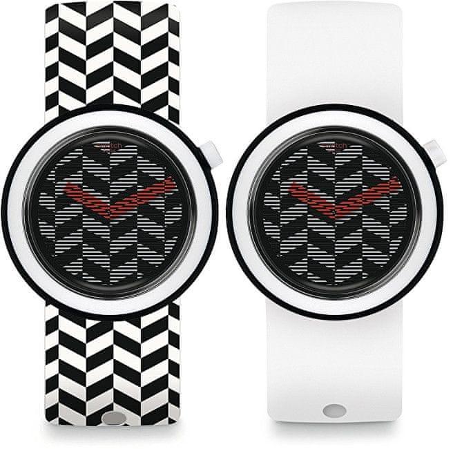 Swatch Oboustranné hodinky Hypnopop PNB104