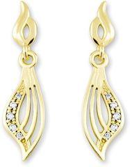 Brilio Zlaté náušnice s krystaly 239 001 00629 - 1,65 g zlato žluté 585/1000