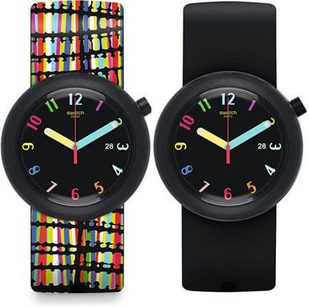 Swatch Oboustranné hodinky Crazypop PNB400