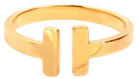 Troli Otevřený pozlacený prsten z oceli (Obvod 54 mm)
