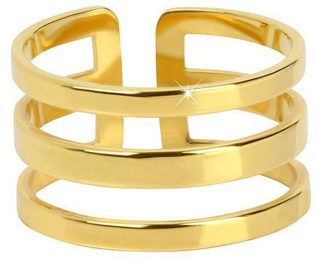 Troli Štýlový trojitý prsteň z pozlátenej ocele