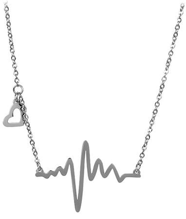 Troli Originálny oceľový náhrdelník Srdcový tep KNSC-253