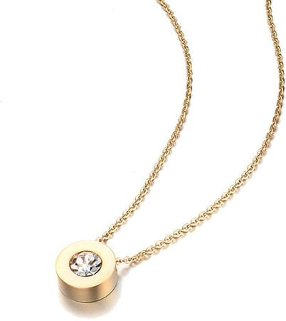 Troli Pozlátený náhrdelník s trblietavým príveskom