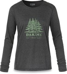 Dakine Dámske tričko Women`s Pine Island L/S Tech T Heather Black 10001522-W18