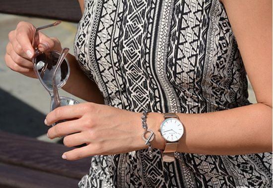 Troli masywna stalowa bransoleta z zamknięciem USA