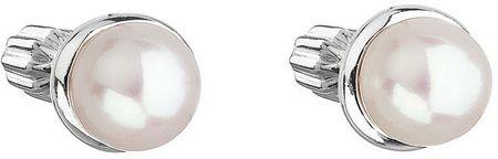 Evolution Group Strieborné náušnice s perlou 21003.1 striebro 925/1000