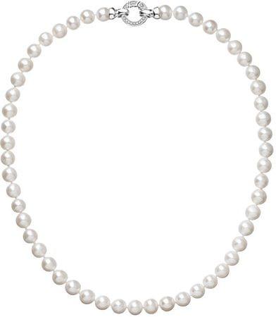 Evolution Group Krásný perlový náhrdelník 22003.1 A stříbro 925/1000