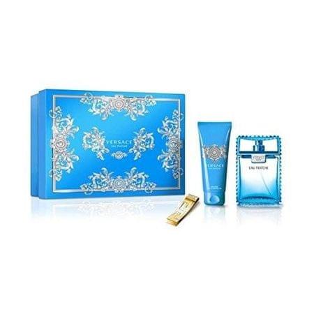 Versace Eau Fraiche Man - woda toaletowa 100 ml + żel pod prysznic 100 ml + klamra na banknoty
