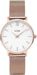 Cluse Minuit Mesh Rose Gold/White CL30004