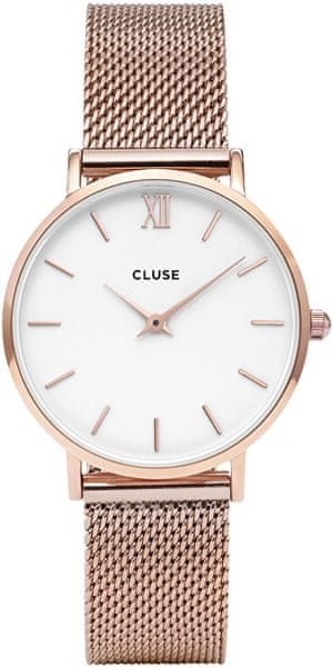Cluse Minuit Mesh Rose Gold White CL30013 11a439c316
