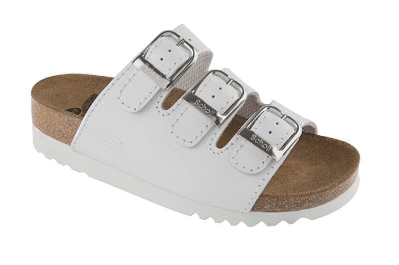 Scholl Zdravotní obuv RIO WEDGE AD Lea-W - bílá (Velikost 36) 9a00e500a62