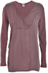 Deha Dámske tričko Long Sleeve T-shirt D63630 Rose Grey