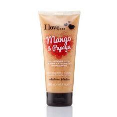 I Love Cosmetics Přírodní sprchový peeling s vůní manga a papáji (Mango & Papaya Exfoliating Shower Smoothie) 200 ml