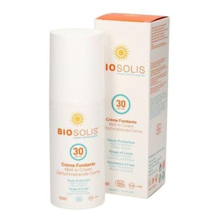Biosolis Szybko absorbująca krem do twarzy i ciała SPF 30 (Sun rozpływa się krem) 100 ml